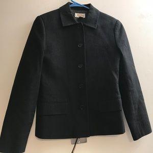 Talbots Cotton Jacket Blazer Dark Blue Size 6